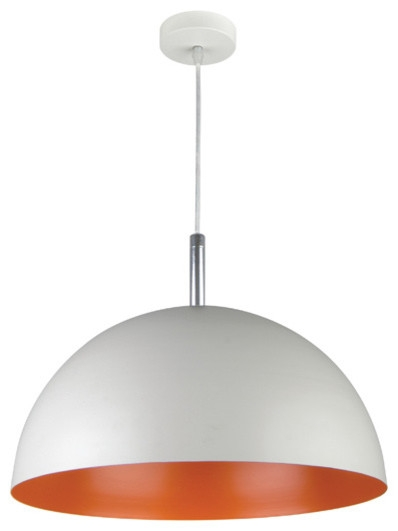 Brilliant Favorite Large Dome Pendant Lights Regarding Large Dome Pendant Light Inside Half Dome Pendant Light Orange (Image 7 of 25)