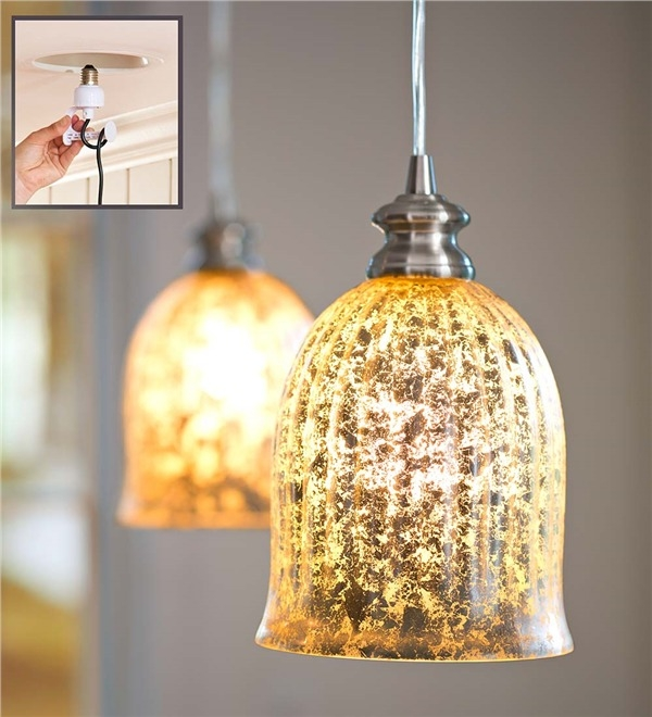 Brilliant Favorite Mercury Glass Pendant Lights With Screw In Mercury Glass Pendant Light Lamps Lighting (Image 5 of 25)