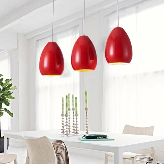 Brilliant Favorite Modern Red Pendant Lighting Pertaining To Aliexpress Buy Modern Pendant Light Dining Room Kitchen (Image 8 of 25)