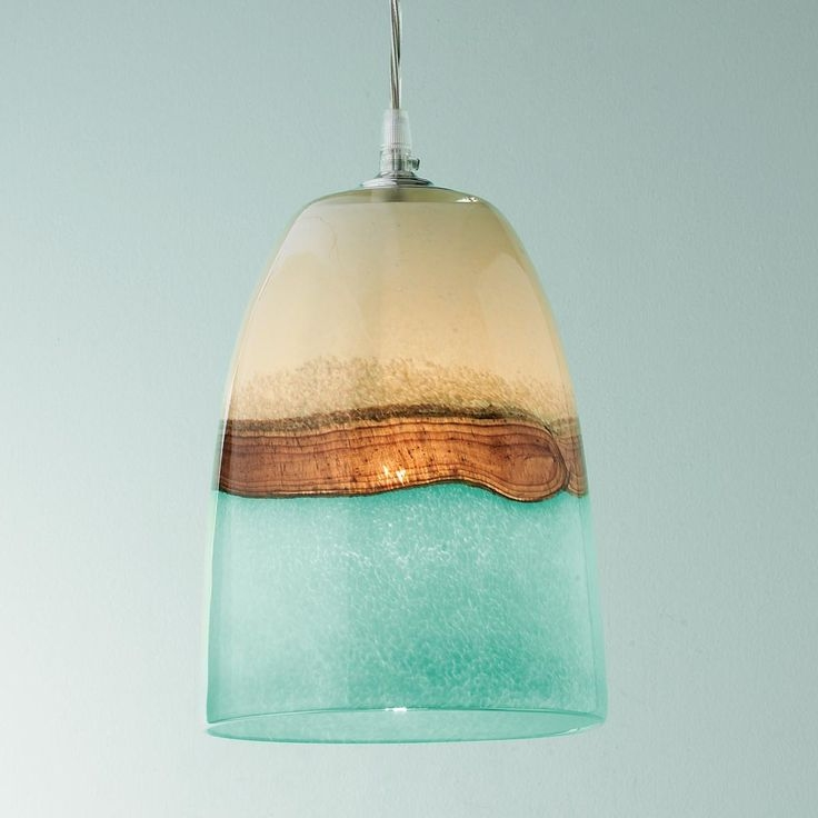 Brilliant High Quality Brown Glass Pendant Lights For 105 Best Sea Glass Lighting Images On Pinterest (Image 8 of 25)