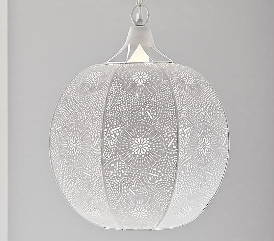 Brilliant High Quality Punched Metal Pendant Lights Within Kasbah Punched Metal Pendant Light (Image 6 of 25)