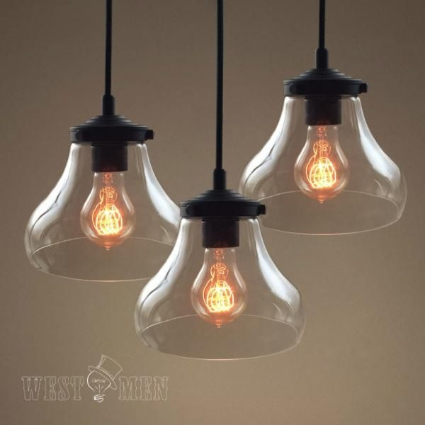 Featured Image of Rustic Clear Glass Pendant Lights