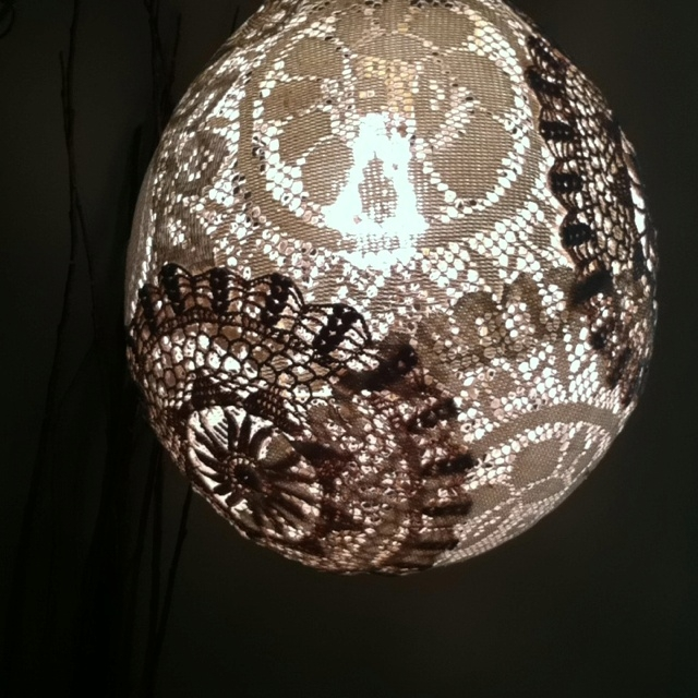 Brilliant High Quality Shell Light Shades In 123 Best Doily Lamp Images On Pinterest (Image 10 of 25)
