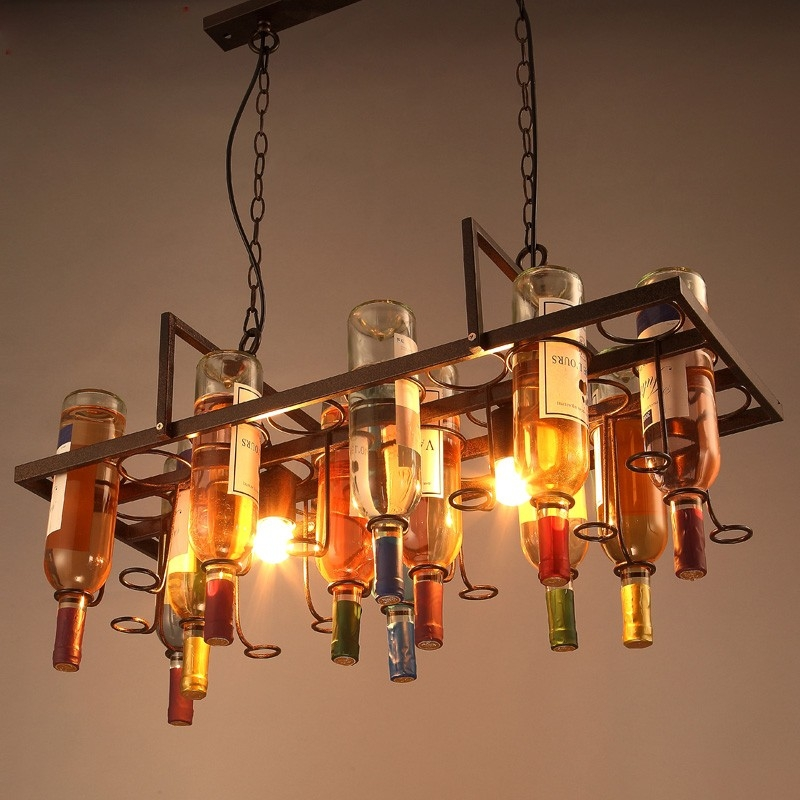25 photos wine bottle pendant light pendant lights ideas brilliant high quality wine bottle pendant light pertaining to online get cheap wine glass pendant light aloadofball Gallery