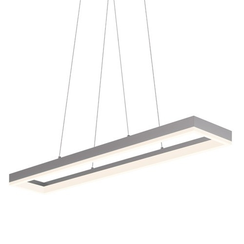 Brilliant Latest Led Pendant Lights In Corona 43 Inch Rectangular Led Pendant Light Dining Table (Image 7 of 25)