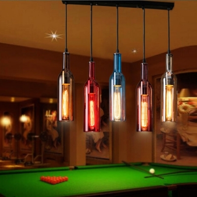 Brilliant Latest Liquor Bottle Pendant Lights Pertaining To Iudustrial Pendant Light Liquor Bottle Repurposed Beautifulhalo (Image 10 of 25)