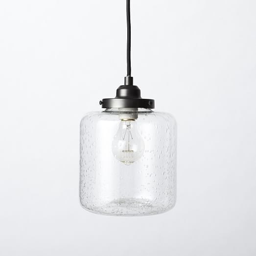 Brilliant Latest Short Pendant Lights In Bubble Glass Jar Pendant Short West Elm (Image 8 of 25)