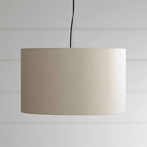 Brilliant New Oversized Drum Pendant Lights Inside Finley Small Wheat Pendant Light Crate And Barrel (Image 12 of 25)