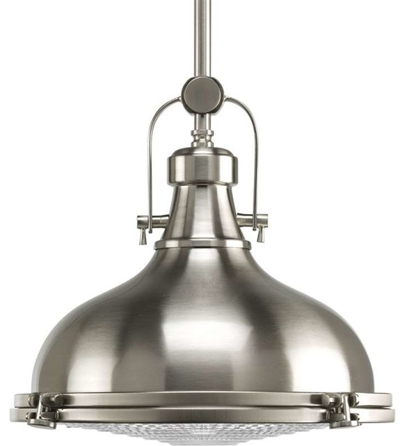 Brilliant Popular Pendant Lighting Brushed Nickel Regarding Traditional Pendant Lights Houzz (Image 7 of 25)