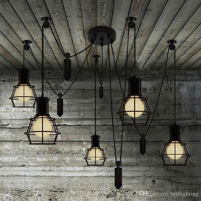 Brilliant Popular Retro Pendant Lights Inside Vintage Pendant Light Novelty Spider Pulley Pendant Lamp Kitchen (Image 5 of 25)