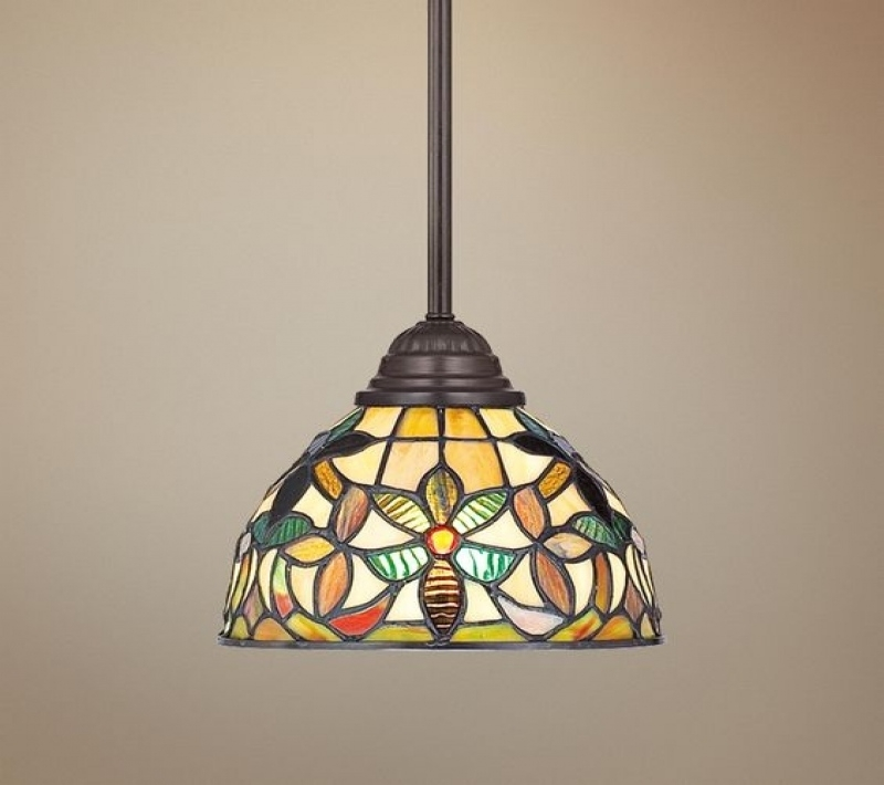 Brilliant Preferred Lamps Plus Pendant Lights Regarding Lighting Ceiling Fans Quoizel Kami Tiffany Style Mini Pendant (Image 11 of 25)