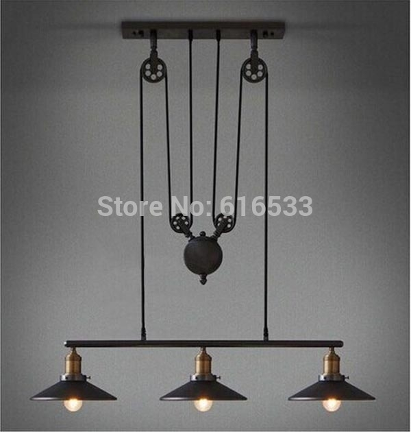Brilliant Premium Adjustable Pulley Pendant Lights For Aliexpress Buy Modern Vintage American Country Loft Lustre (Image 4 of 25)