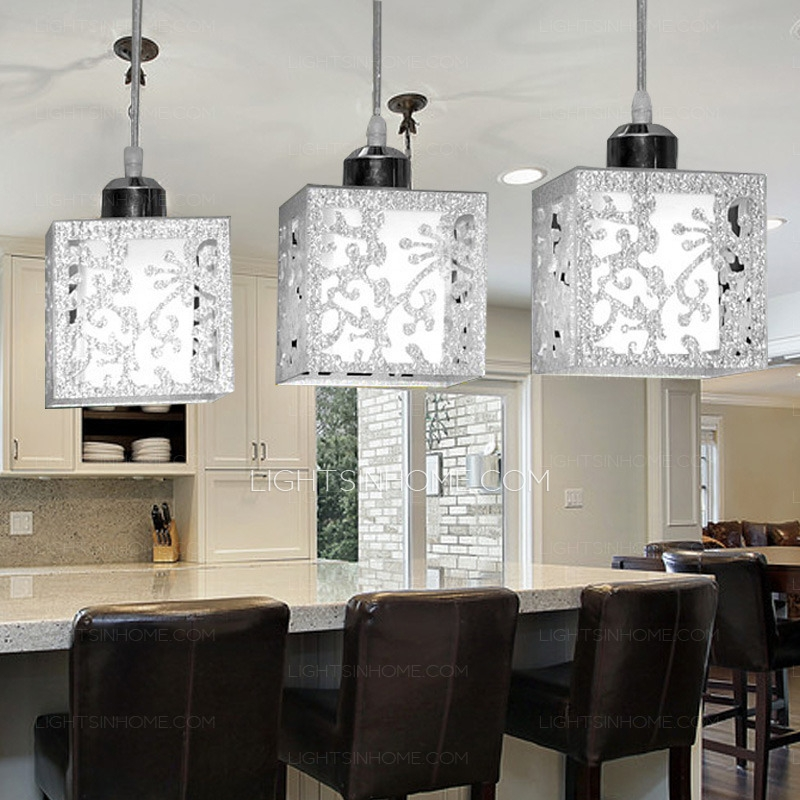 Brilliant Premium Stainless Steel Pendant Light Fixtures Pertaining To Light Rectangular Type Glass Shade Stainless Steel Pendant Lights (Image 6 of 25)
