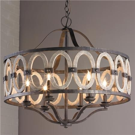 French Country Chandelier With Shades