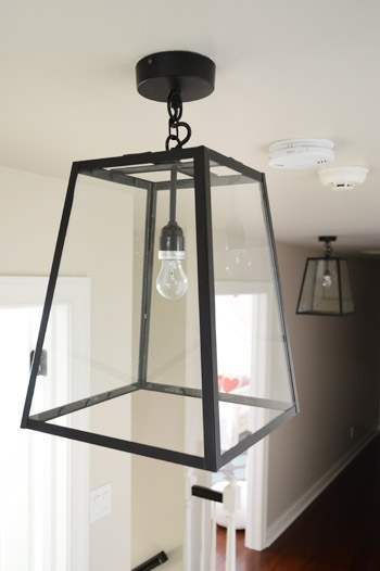 Brilliant Series Of Young House Love Pendant Lights Pertaining To Three Oversized Lantern Lights For The Hallway Young House Love (Image 4 of 25)