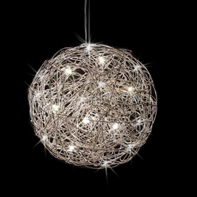Brilliant Top Ball Pendant Lighting In Mesh Ball Pendant Light (Image 7 of 25)
