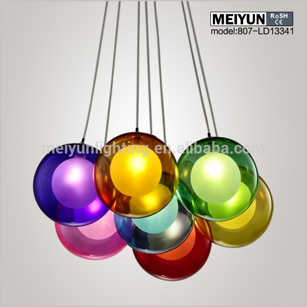 Brilliant Trendy Coloured Glass Pendant Lights With Regard To Gorgeous Glass Ball Pendant Light Globe Glass Ball Pendant Light (Image 6 of 25)