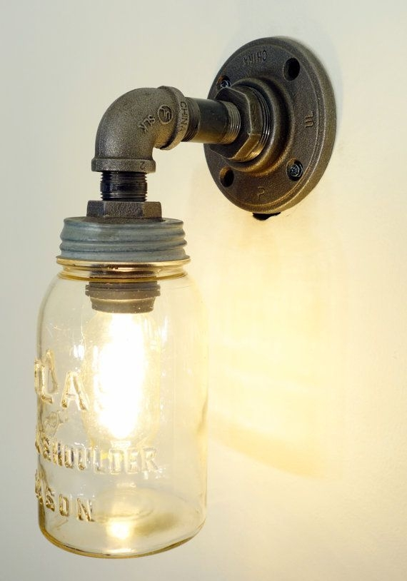 Brilliant Well Known Glass Jug Light Fixtures Within Best 25 Mason Jar Light Fixture Ideas On Pinterest Jar Lights (Image 5 of 25)