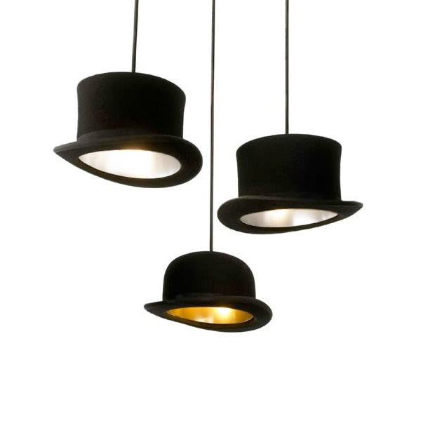 Brilliant Wellknown Jeeves And Wooster Pendant Lights Intended For Jeeves And Wooster Authentic Bowler And Top Hat Pendant Lights (Photo 9 of 25)