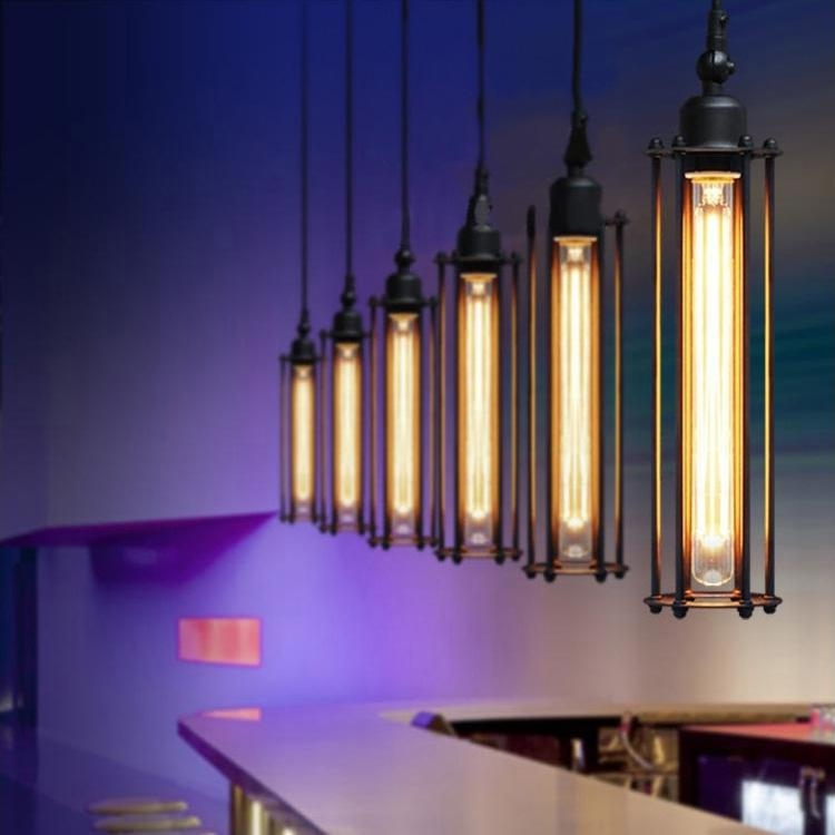 Brilliant Well Known Restaurant Pendant Lighting With Retro Edison Pendant Lamps Restaurant Aisle Bar Punk Vertical (Image 8 of 25)