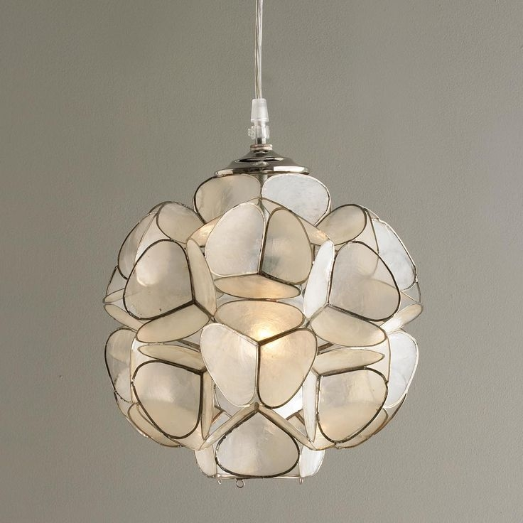 Brilliant Well Known Shell Light Shades Pertaining To Shell Light Shades Pendant Tequestadrum (View 9 of 25)