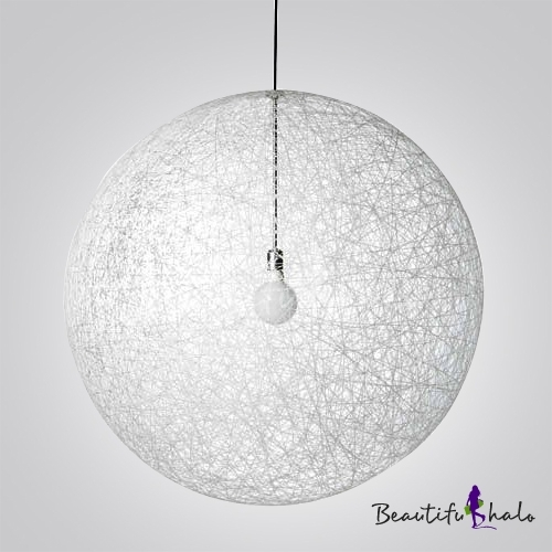 Brilliant Wellknown Wire Ball Light Pendants Regarding Fashion Style Linen Ball Modern Lighting Beautifulhalo (Image 7 of 25)
