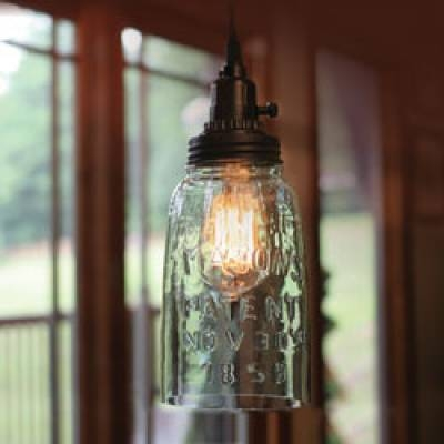 Brilliant Wellliked Mason Jar Pendant Lights Throughout Mason Jar Pendant Lamp Half Gallon Piper Classics (Image 3 of 25)