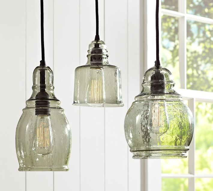 Brilliant Wellliked Recycled Glass Pendant Lights For Paxton Glass Single Pendants Pottery Barn (Image 5 of 25)