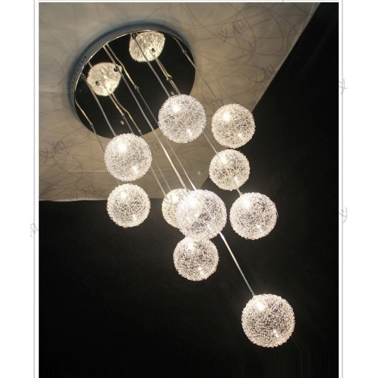 Brilliant Wellliked Wire And Glass Pendant Lights Inside Compare Prices On Aluminium Wire Ball Light Online Shoppingbuy (Image 7 of 25)