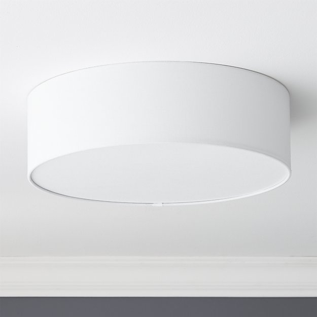 Brilliant Widely Used Cb2 Light Fixtures Pertaining To Drum Flush Mount Lamp Cb (Image 7 of 25)