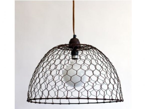 Brilliant Widely Used Chicken Wire Pendant Lights For Wire Basket Pendant Lamp (Image 9 of 25)