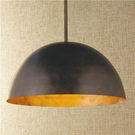 Brilliant Widely Used Large Dome Pendant Lights Pertaining To Large Dome Copper Pendant Rame Industriale E Il Mio Cuore (View 3 of 25)