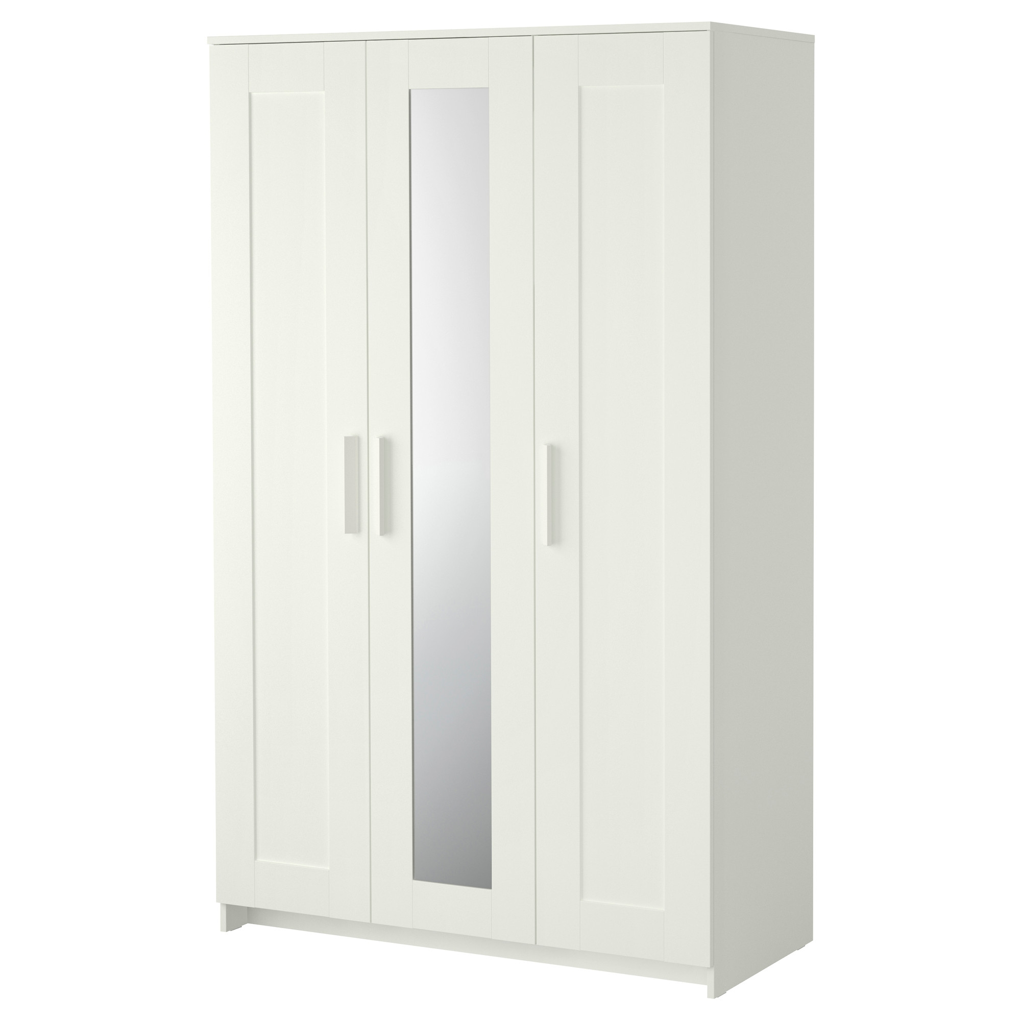 Brimnes Wardrobe With 3 Doors White Ikea Intended For 3 Door White Wardrobes (Image 3 of 25)
