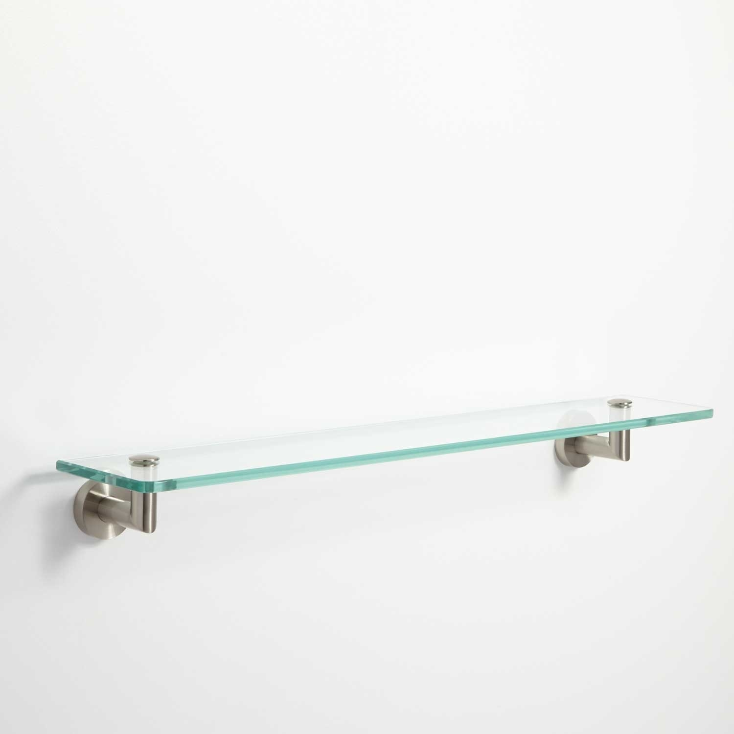 Bristow Tempered Glass Shelf Bathroom Pertaining To Glass Shelves (Image 2 of 15)