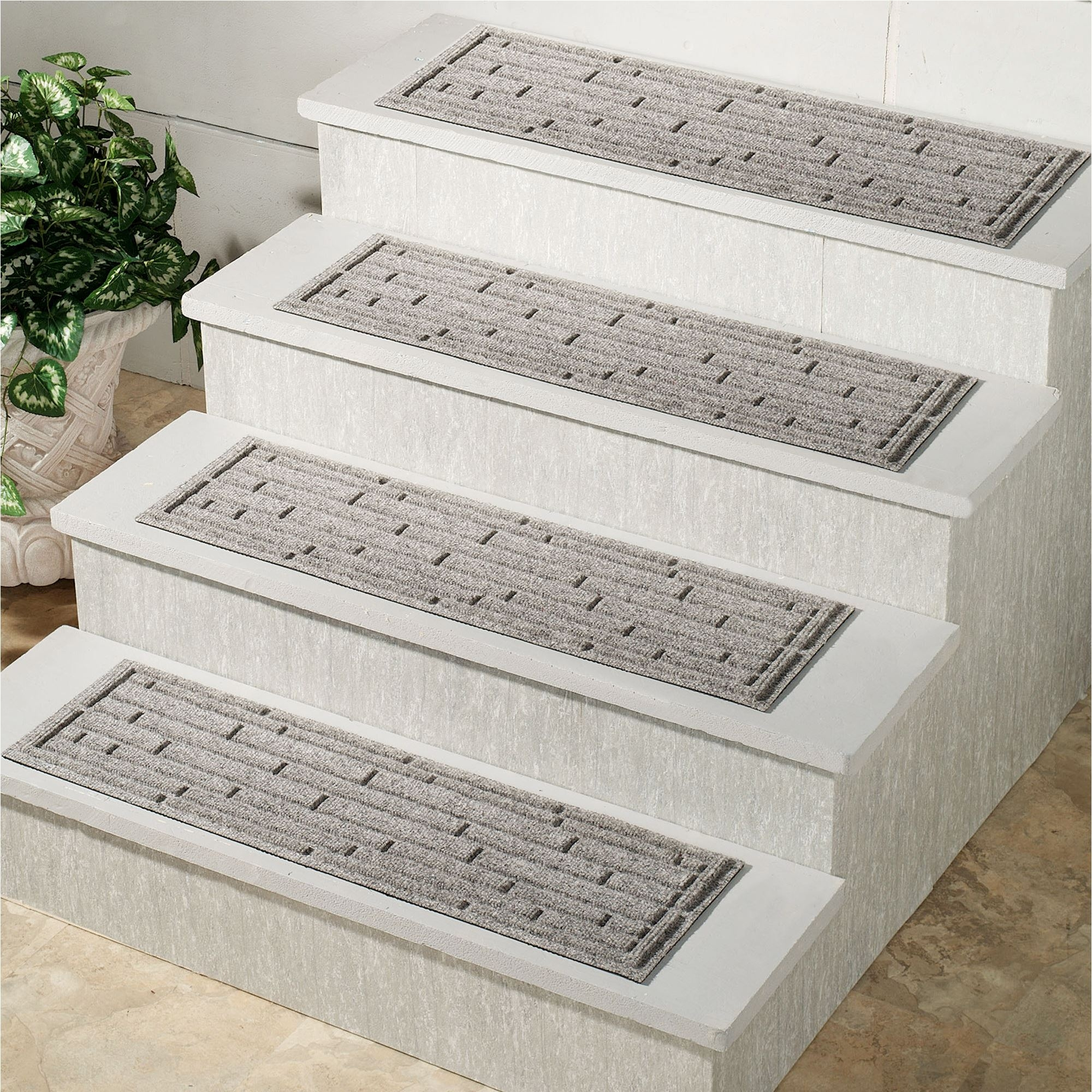 Broken Brick Outdoor Stair Tread Set Of 4 Intended For Rectangular Stair Treads (Image 3 of 15)
