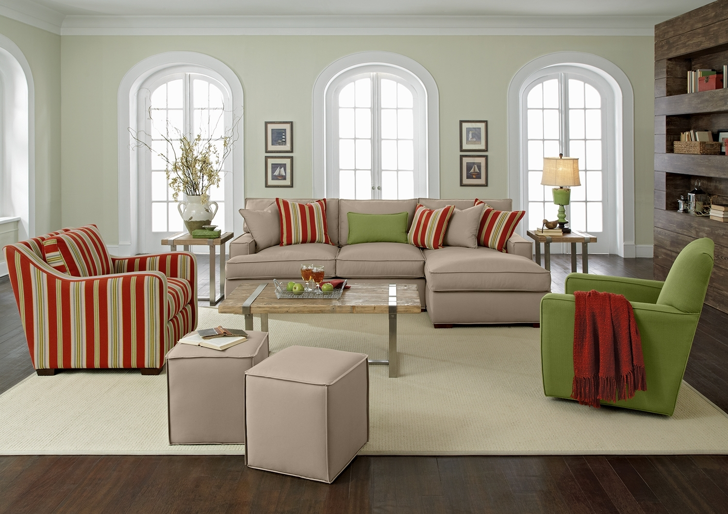 Brown Leather Chair Canada Apartment Living Room Furniture Color In Striped Sofas And Chairs (Image 7 of 15)