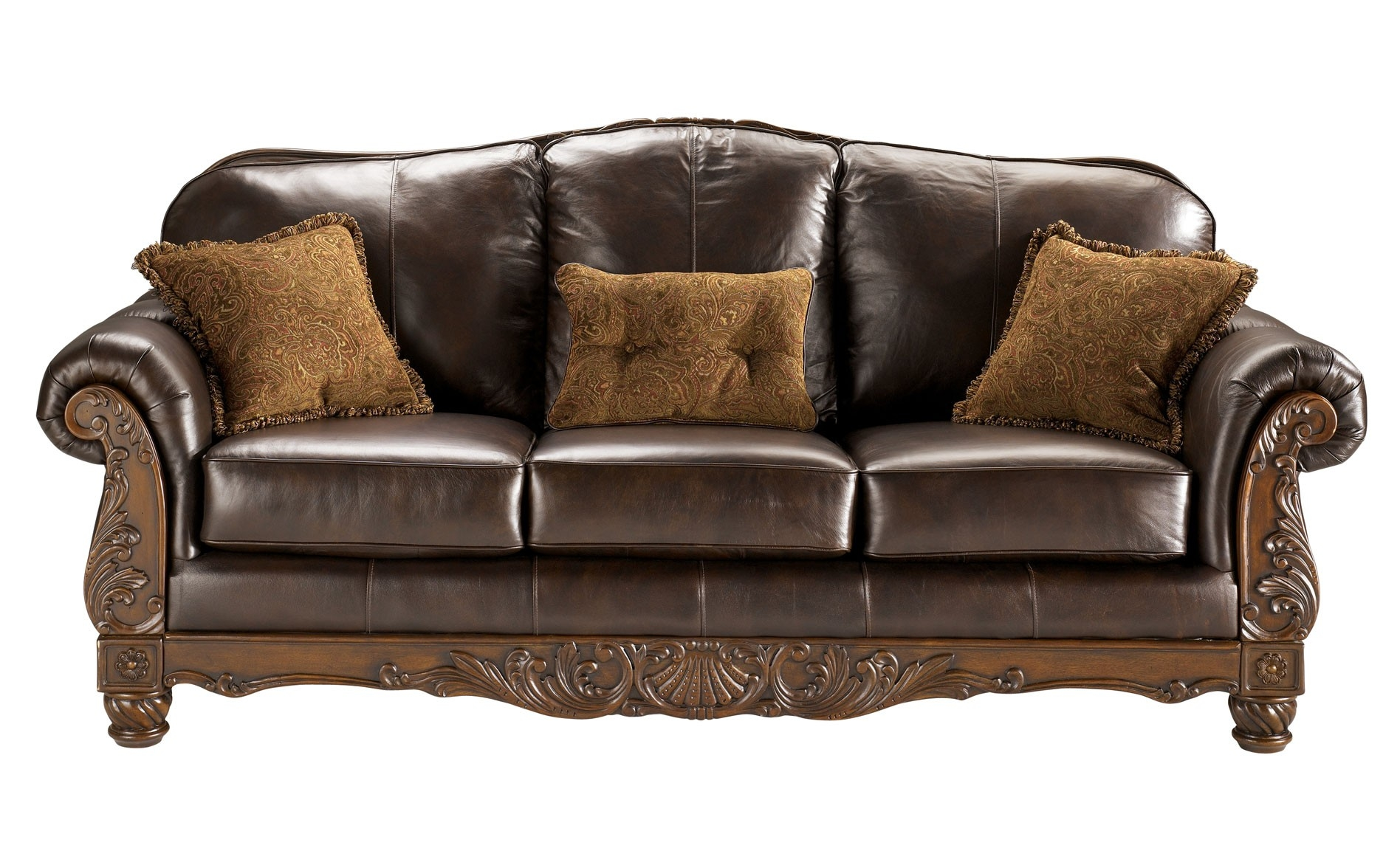 Brown Leather Sofa Monaco Couch And Loveseat Download With Within Brown Sofa Chairs (Image 8 of 15)