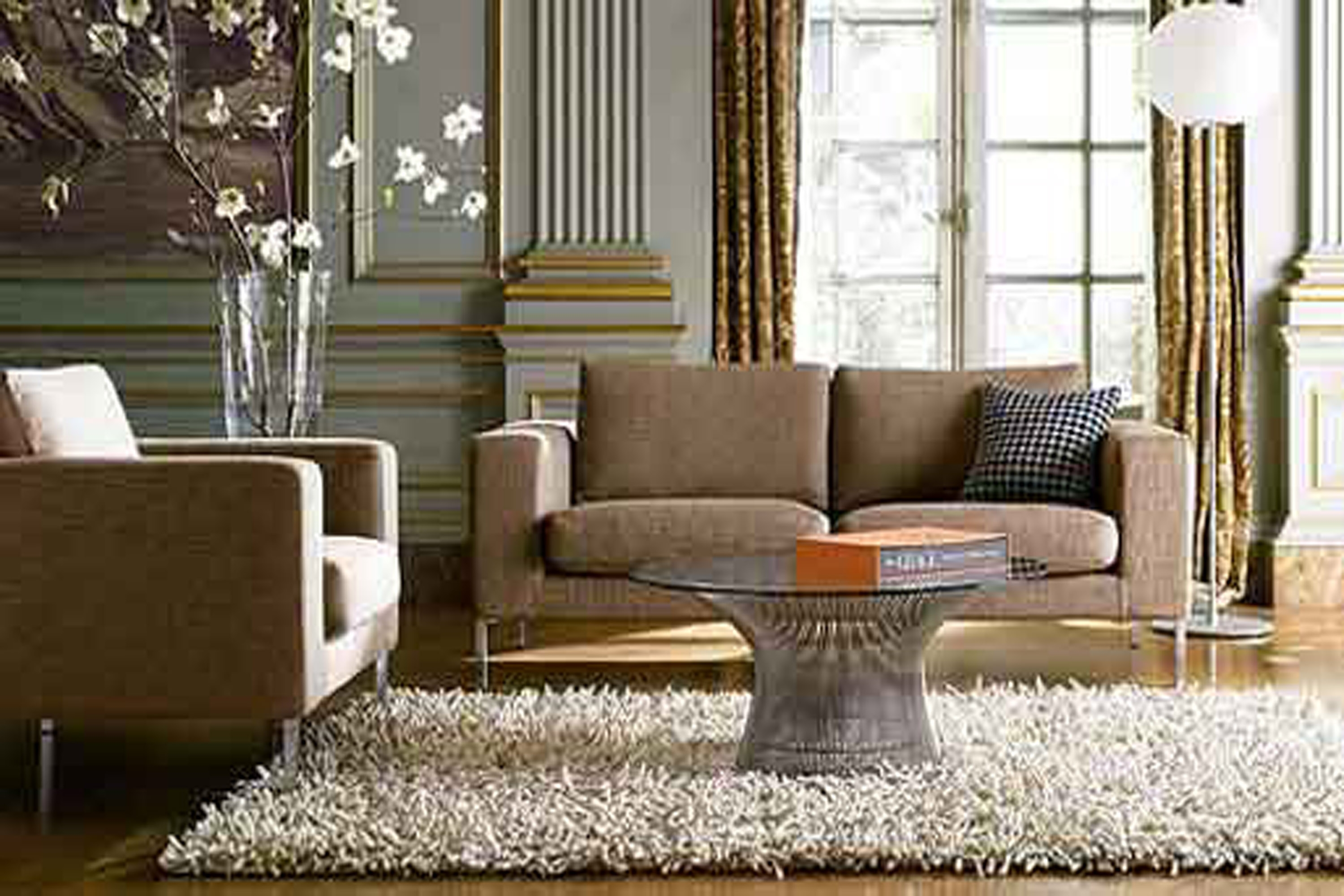 Brown Living Room Rugs Living Room Within Rugs In Living Rooms (Image 9 of 15)