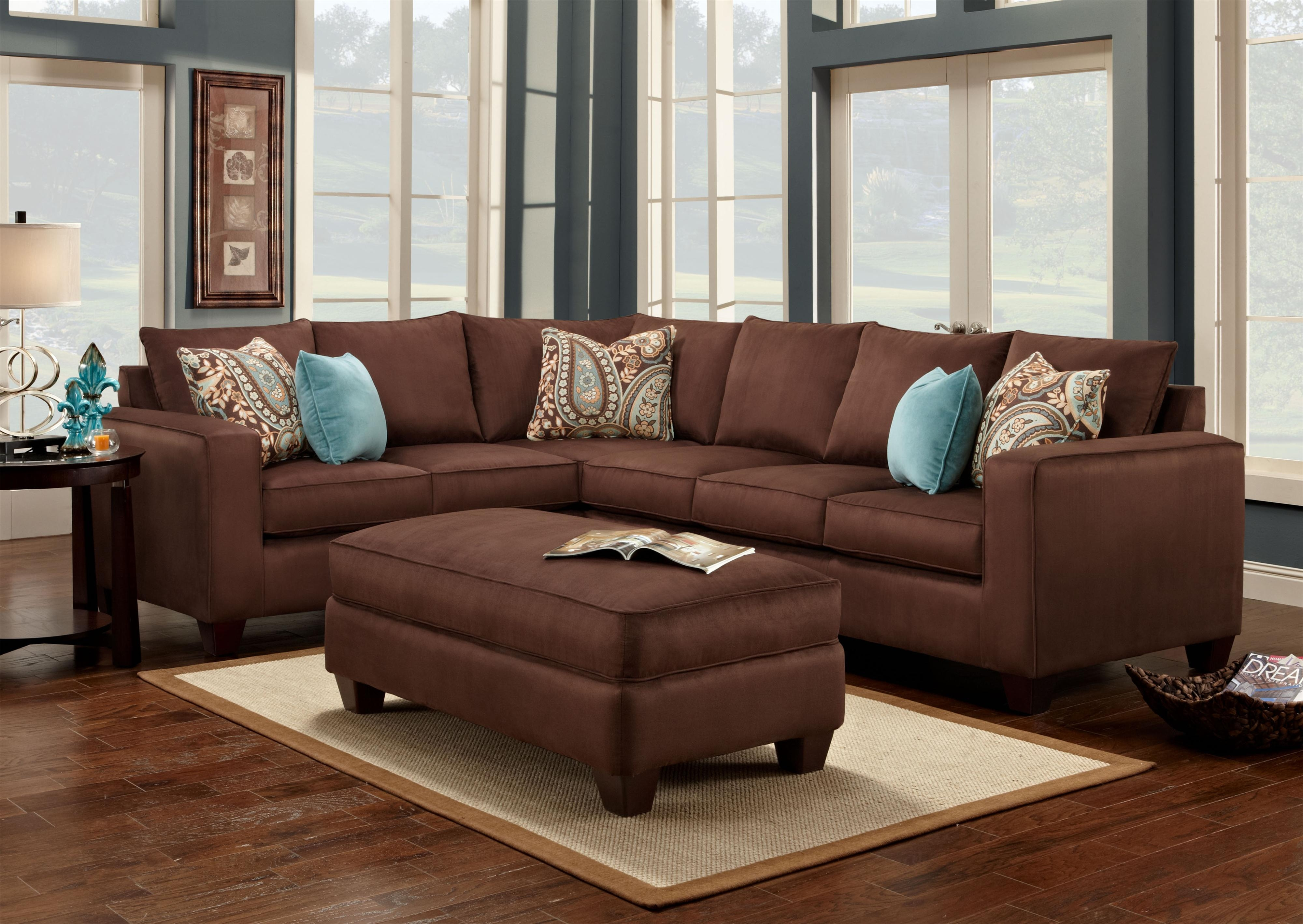 Brown Sectional Sofa Plus Blue Living Room Inspiration Best Blue Within Brown Sofa Chairs (Image 9 of 15)