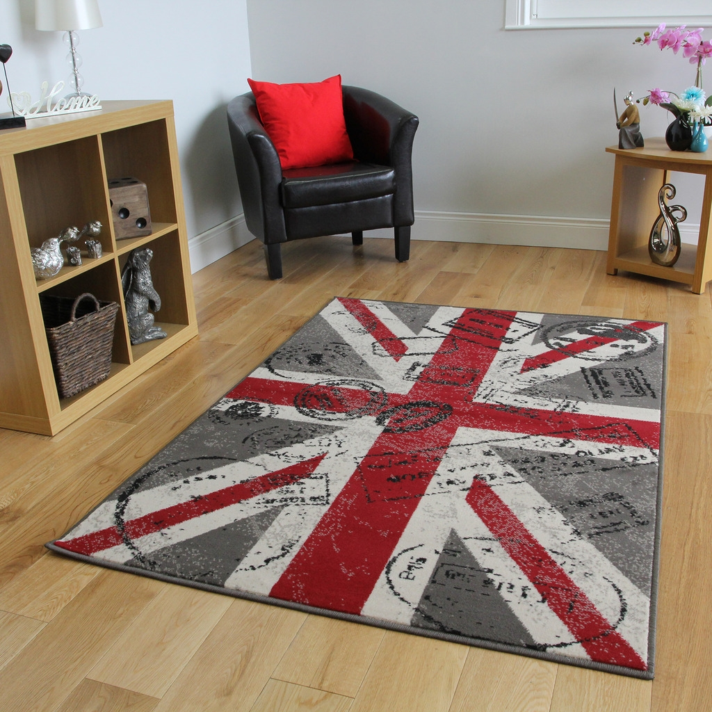 Brown Union Jack Rug Roselawnlutheran Within British Flag Rugs (Image 6 of 15)