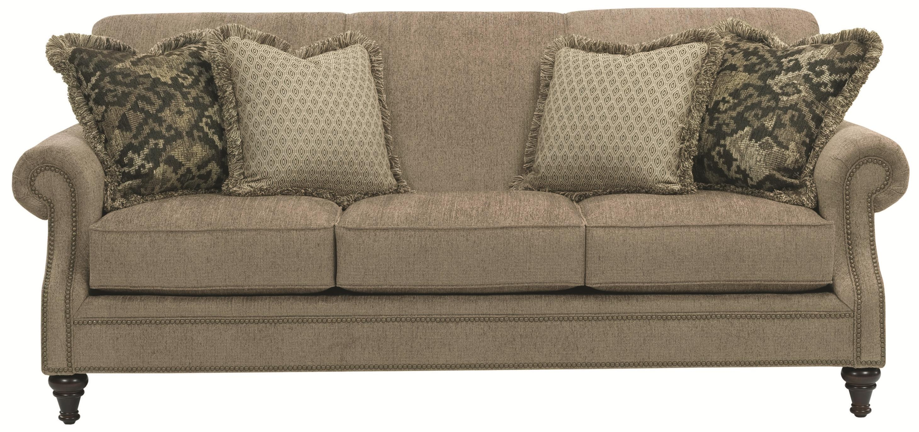 Broyhill Furniture Windsor Sofa With Rolled Arms Wayside Pertaining To Windsor Sofas (Image 2 of 15)