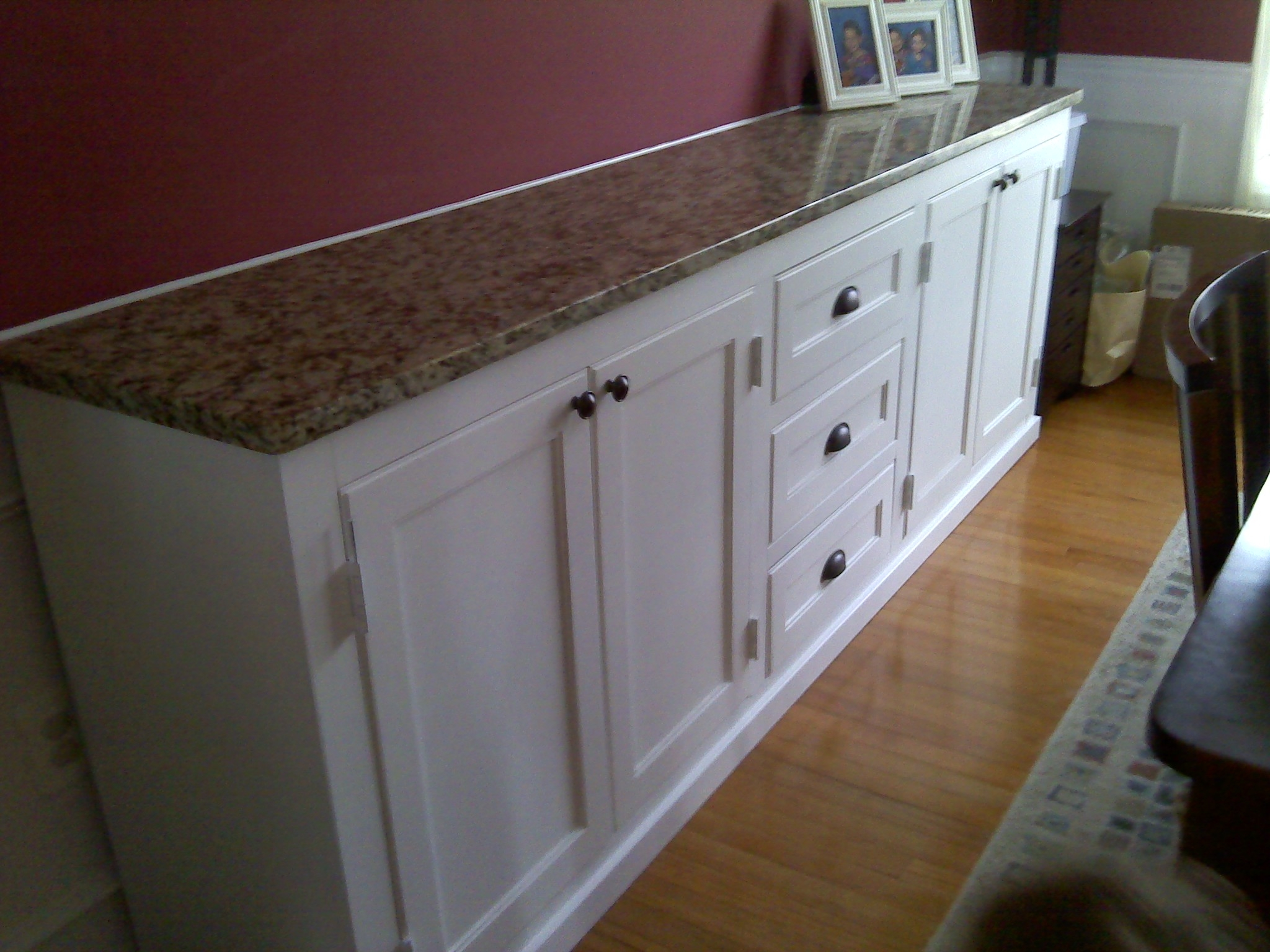 Built In Dining Room Buffet Storage Underneath And Matching Intended For Table Cupboards (Image 7 of 25)