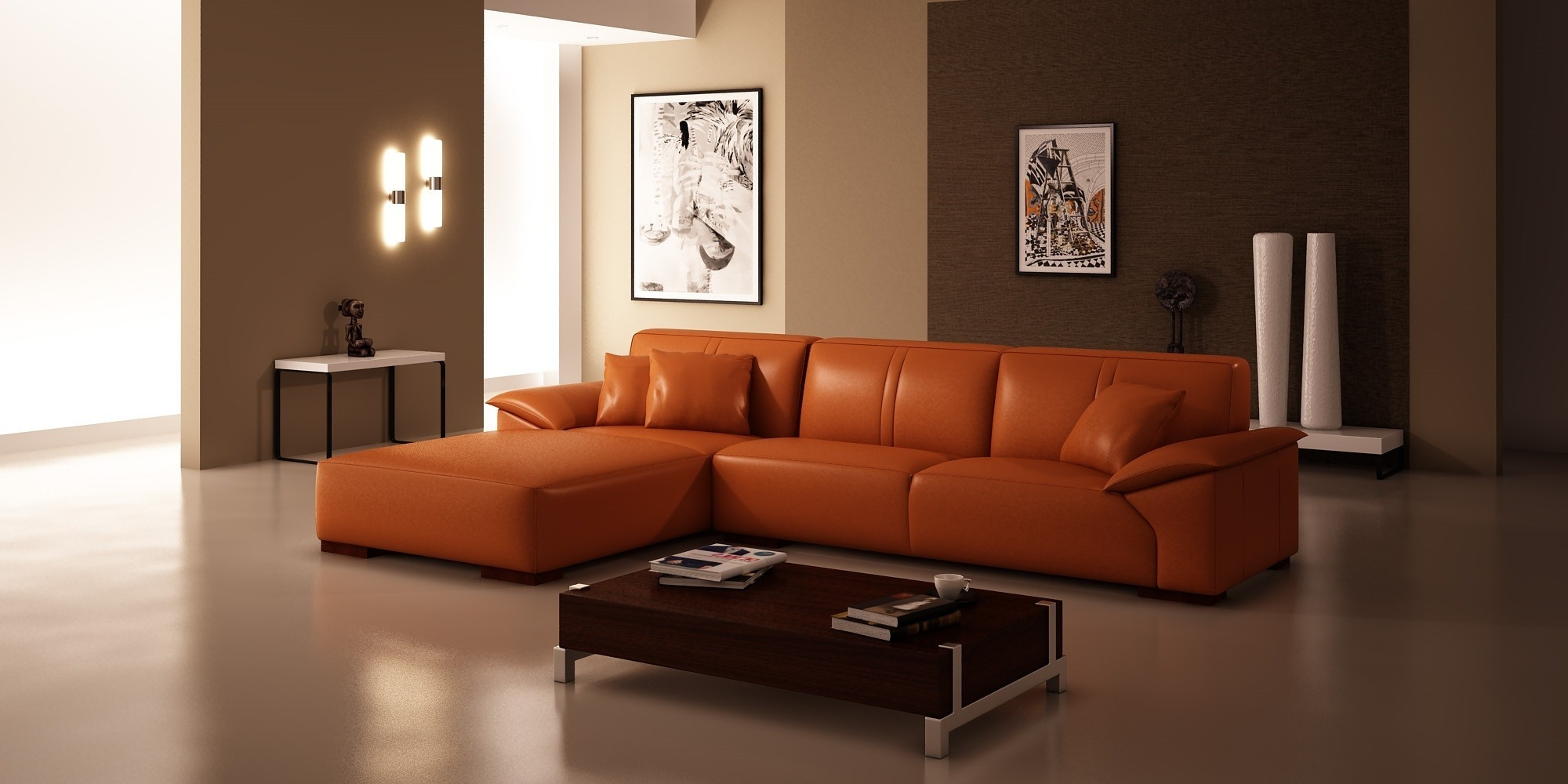 Burnt Orange Sofa And Loveseat Hereo Sofa Throughout Orange Sofa Chairs (Image 6 of 15)