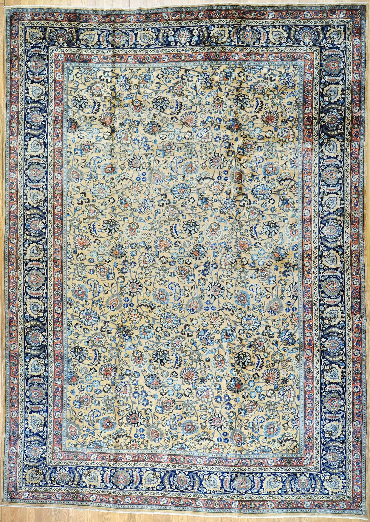 Buy Authentic Hand Knotted Persian Rugs 5000 And Up From Oldcarpet Within Green Persian Rugs (Image 8 of 15)