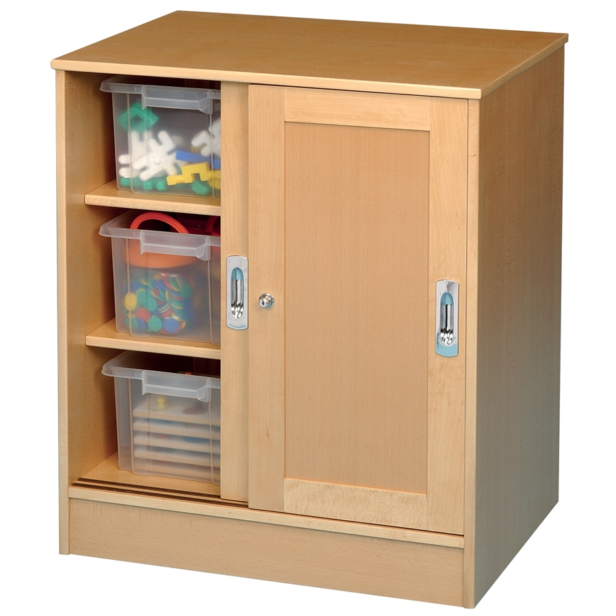 Buy Medium Beech Lockable Storage Cupboard Tts Intended For Large Storage Cupboards (Image 3 of 15)
