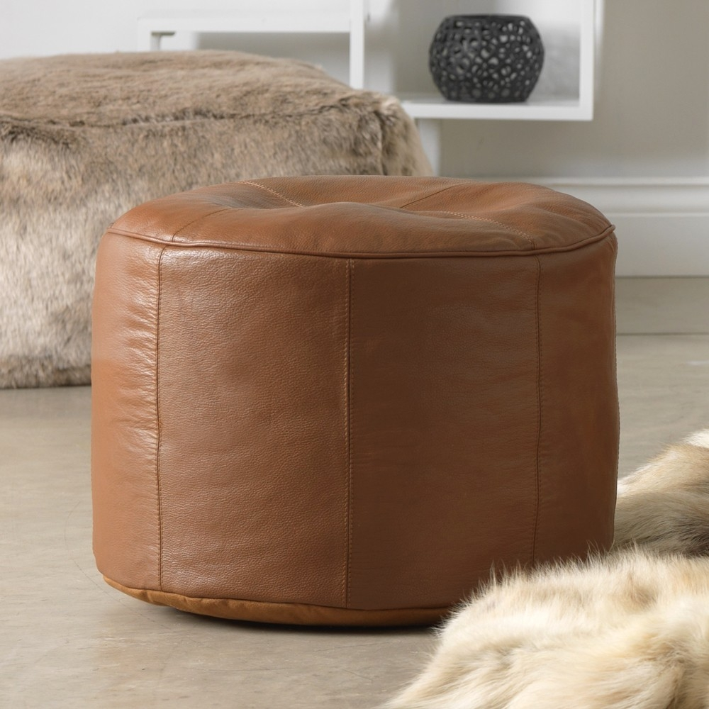 Buy Real Leather Bean Bag Footstools Real Leather Bean Bag Bazaar Within Leather Footstools (Image 2 of 15)