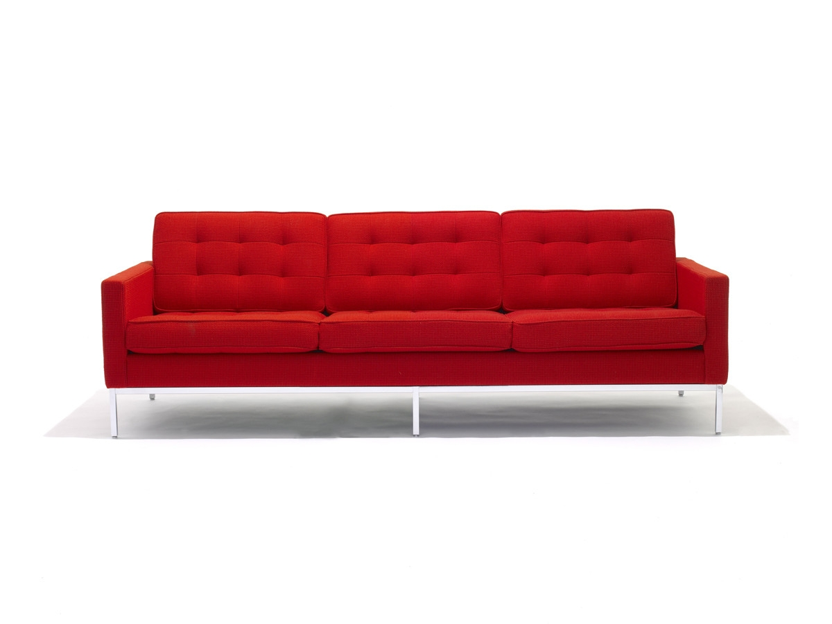 Buy The Knoll Studio Knoll Florence Knoll Three Seater Sofa At In Florence Knoll Fabric Sofas (Image 3 of 15)