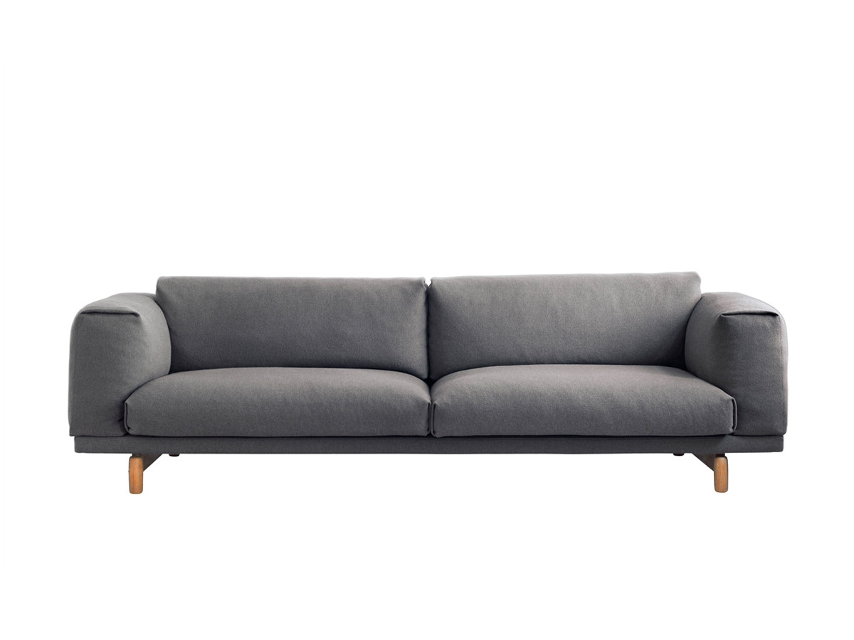 Buy The Muuto Rest Three Seater Sofa At Nestcouk Inside Three Seater Sofas (Image 8 of 15)