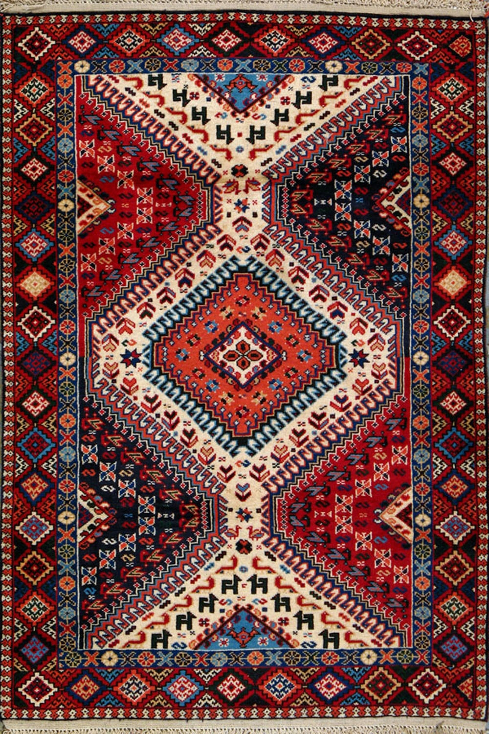 Buy Yalameh Persian Rug 3 4 X 4 11 Authentic Yalameh Handmade Rug In Persian Rugs (Image 6 of 15)