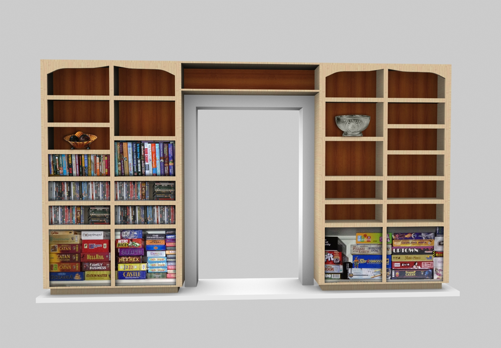 Cabinet Design Software Sketchlist 3d Rendering Very Realistic For Book Cabinet Design (Image 6 of 15)